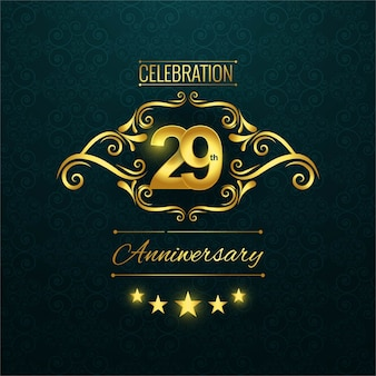 29th anniversary logo