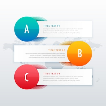 3 steps infographic template banners with space for text