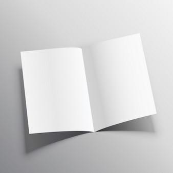 3Dリアルな紙のフォルダモックアップ