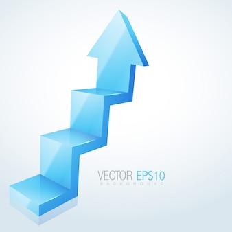 3d arrow steps design