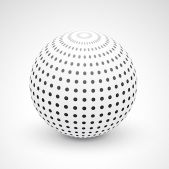 3d background with a sphere
