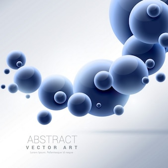 3d background with blue spheres
