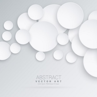 3d background with white circles