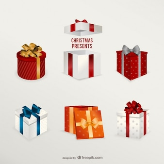 3D Christmas presents pack