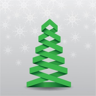 3d christmas tree on a gray background