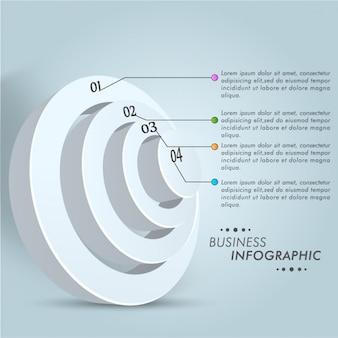 3d circular infography