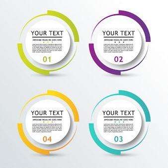 3d circular options for infographic
