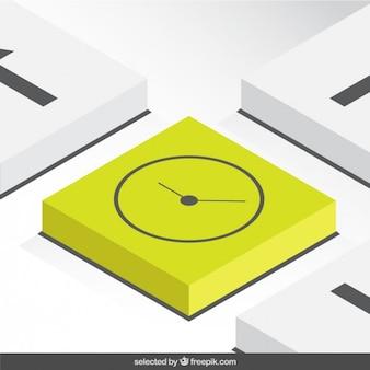 3d Clock button