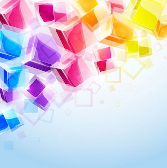 3D Cubes Background Banner Abstract