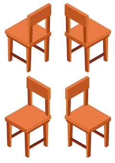 3D design for wooden chairs