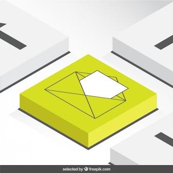 3d letter button