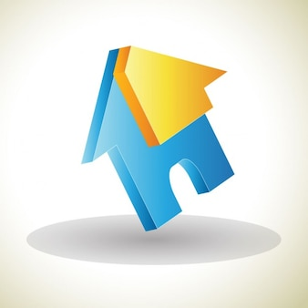 3d logo in the shape of a house