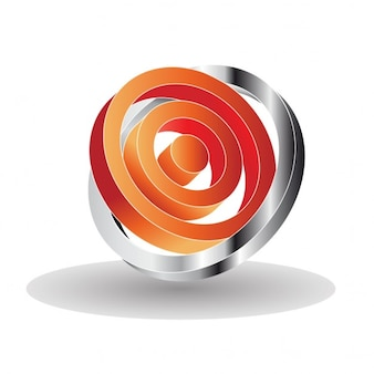 3d logo with circles