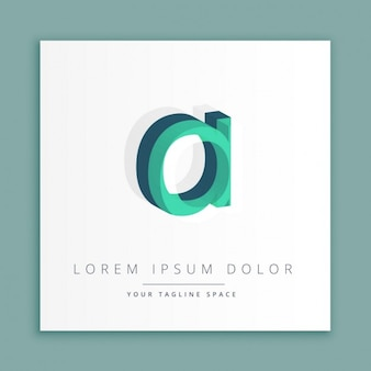 3d logo with letter a