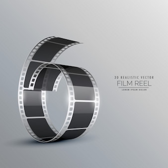 3d realistic film roll