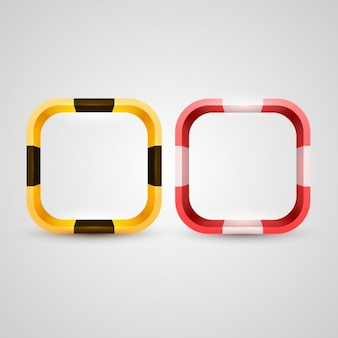 3d rounded squares frames