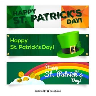 3d Saint Patrick's day banners