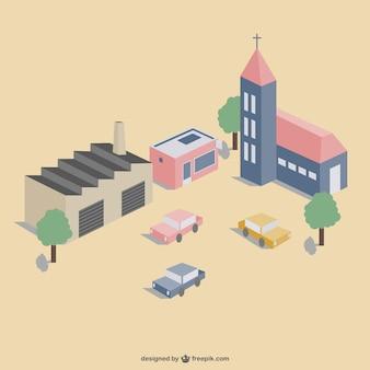3D town