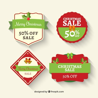 4 labels for christmas sales