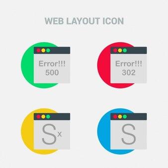 4 web layout icons