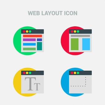 4 web template icons