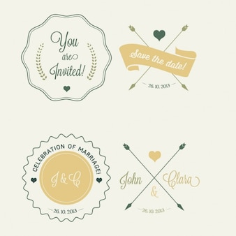 4 wedding badges
