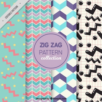 4 zig zag patterns
