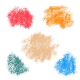 5 watercolor spots