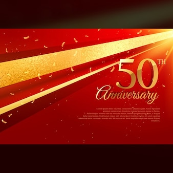 50th anniversary luxury red background