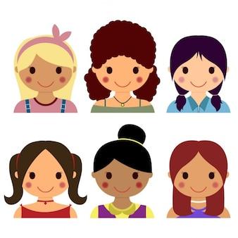 6 cartoon avatars
