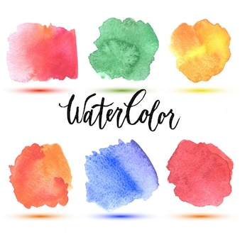 6 watercolor spots