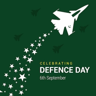 6th september defence day, green background