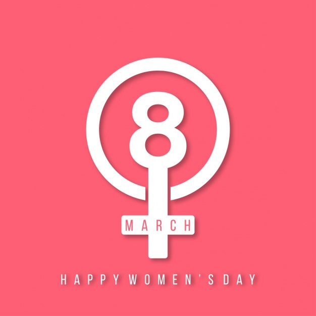 8th march happy women day lettering