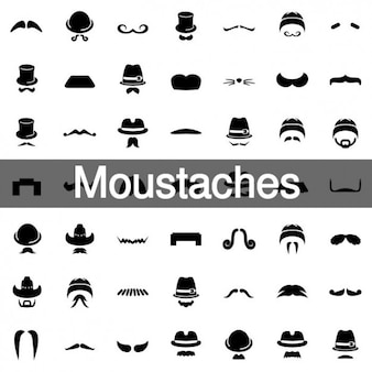 98 Moustaches icons collection