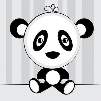 A cute panda bear
