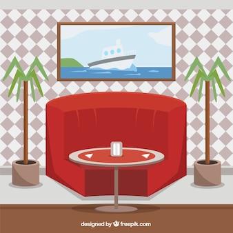A modern restaurant scene