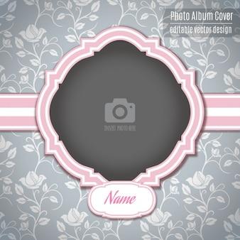 ピンクのロマンチックなフレーム