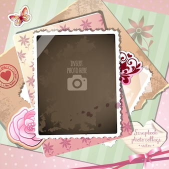 A romantic frame on a vintage background
