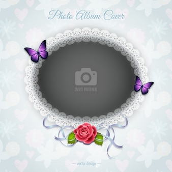 A romantic frame with a rose