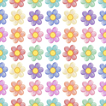 A seamless template with a floral design