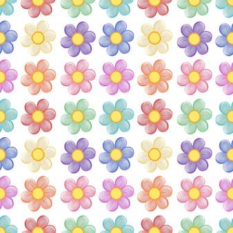 Бесшовный шаблон с цветочным дизайном