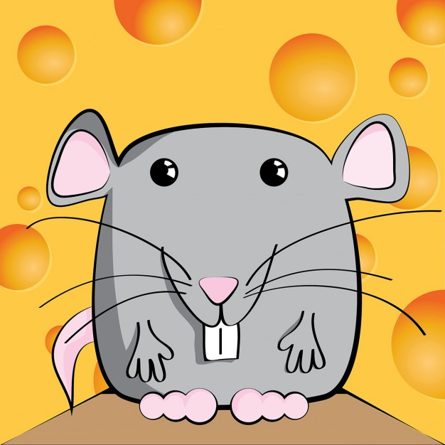 A smiling mouse
