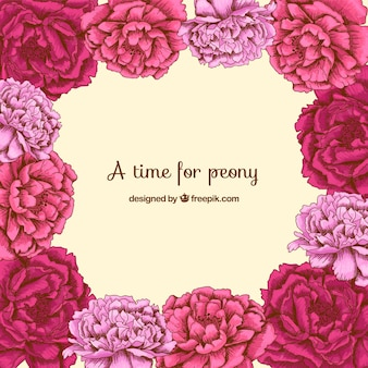 A time for peony background