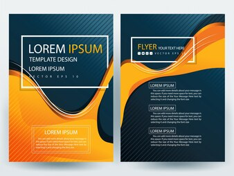 A4 Brochure Layout template  with orange and gray curve