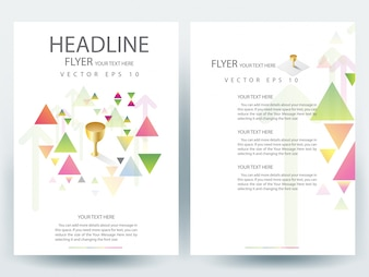 A4 Brochure Layout template  with triangle element