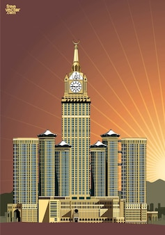 Abraj al bait hotel clock tower