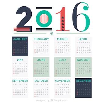 Abstract 2016 calendar