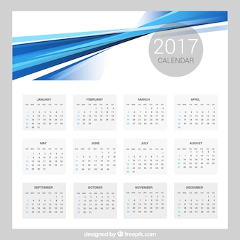 Abstract 2017 calendar template