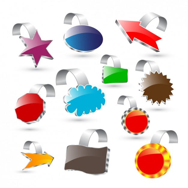 Abstract 3d design elements