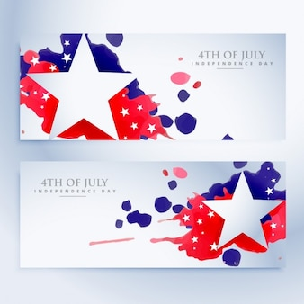 Abstract 4th of july banners